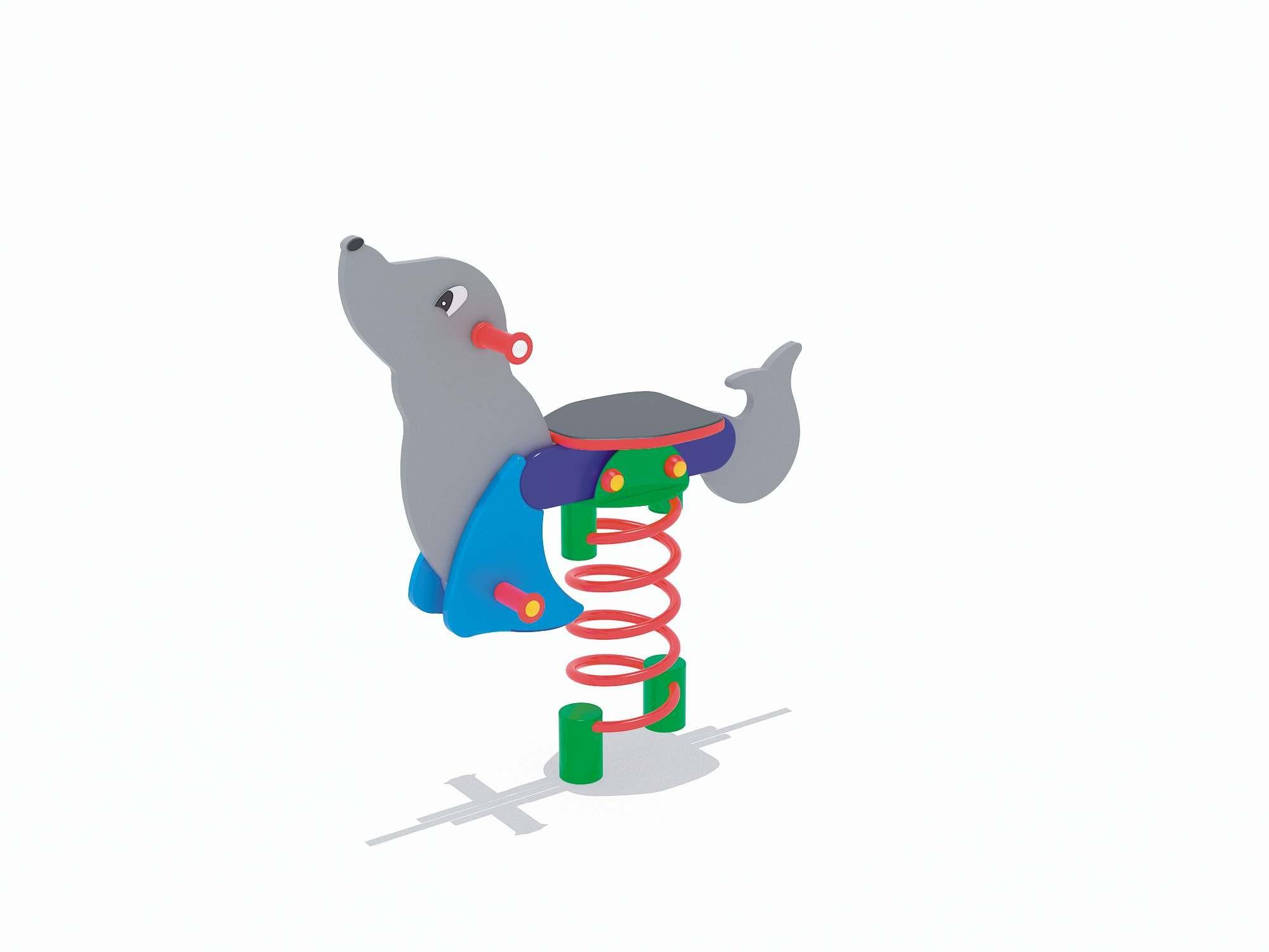 Sprężynowiec Foka place zabaw projekty realizacje