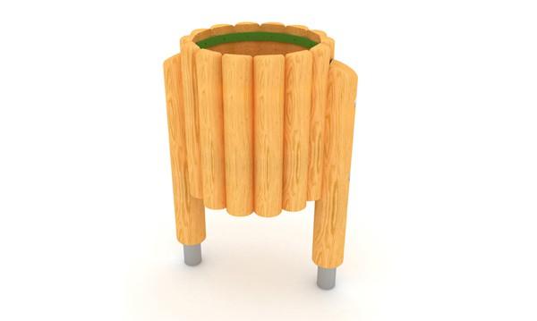 Kosz drewniany place zabaw projekty realizacje