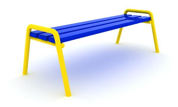 Ławka metalowa bez oparcia place zabaw projekty realizacje