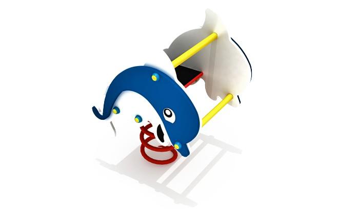 Sprężynowiec Delfin place zabaw projekty realizacje