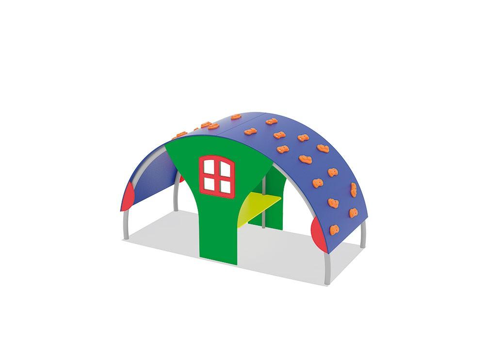 Domek 3 ze wspinaczką place zabaw projekty realizacje