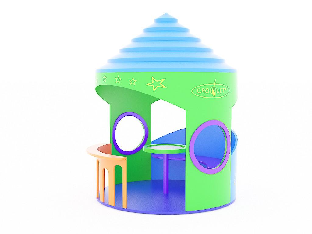 Domek z polietylenu place zabaw projekty realizacje